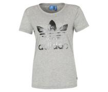 T-Shirt mit Front-Print grau