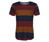 T-Shirt mit Streifenmuster mischfarben