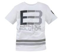 T-Shirt grau / weiß