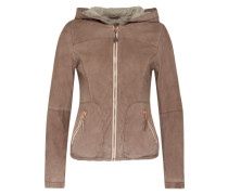 Lederjacke 'Cloud' grau