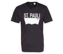 Shirt mit rundem Ausschnitt schwarz