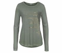 Langarmshirt gold / khaki