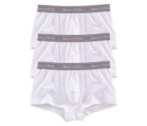Hipster Pants (3 Stück) in hüfttiefer Passform mit weichem Webbund weiß