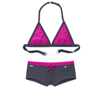 Triangel-Bikini grau / pink