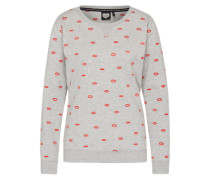 Sweatshirt 'Too Much Love' grau