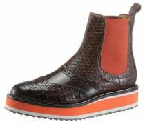 Chelseaboots braun / orange