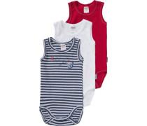 Bodys 3er-Pack für Jungen blau / rot / weiß