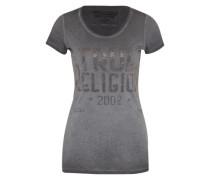 T-Shirt mit Label-Print schwarz