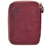 Sequoia Geldbörse Leder 10 cm rubinrot