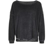 Sweatshirt Velvet Pailette schwarz