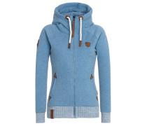 Female Zipped Jacket Every World Knows It blau