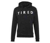 "Sweatshirt 'New Word Placement""TIRED""' schwarz / weiß"