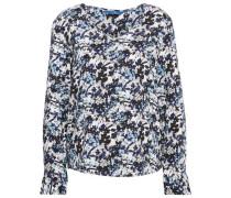 Shirt / Blouse gemusterte Bluse blau / navy / weiß