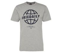 Shirt 'Globedaily' graumeliert