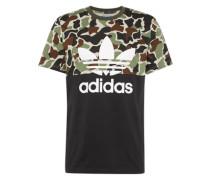 T-shirt 's/s Camu Color' mischfarben / schwarz / weiß