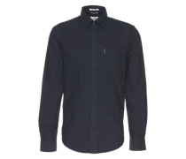 Hemd mit Button-Down-Kragen navy