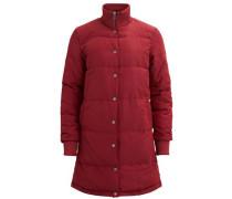 Lange Jacke 'objfiluca Long Jacket' rubinrot