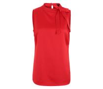 Bluse mit Stehkragen rot