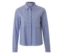 Hemd-Shirt 'Zacceria' blau / weiß