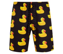 Nf161 Rubber Ducky HOT TUB Short Blck XL gelb / schwarz