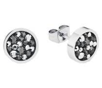 Paar Ohrstecker mit Swarovski Kristallen silber