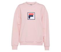 Sweater mit Logoapplikation rosa