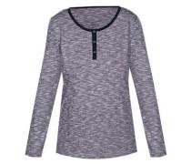Shirt 'fine Stripe' graumeliert / schwarz