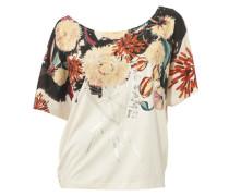 Oversized-Shirt beige / rot