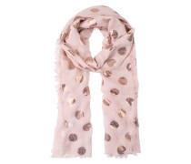Schal mit Metallic-Print rosé / mischfarben