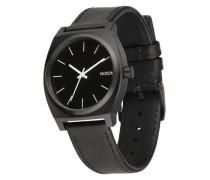Armbanduhr 'Time Teller' schwarz / weiß