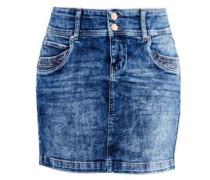 Jeans-Mini mit Doppelknopf blue denim