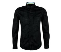Button-Down-Hemd schwarz