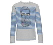Sweatshirt 'Moritz' blau / grau / schwarz