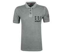 Poloshirt im Garment-Dye-Look dunkelgrau