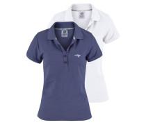 Poloshirt (Packung 2 tlg.) blau / weiß