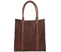 Ascott Handtasche Shopper Leder 40 cm braun
