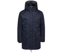 Warme Jacke dunkelblau
