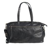 Leder Freizeittasche schwarz