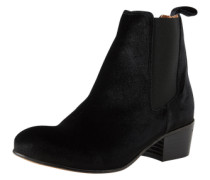 Chelsea-Boots in Samt-Optik 'SF London' schwarz