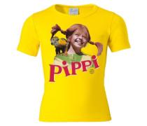 """T-Shirt """"Pippi Langstrumpf"""" gelb"""