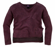 Pullover in Oversize-Form rot