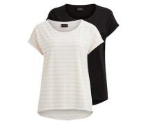 Einfaches T-Shirt 'vidreamers' rosa / schwarz / weiß