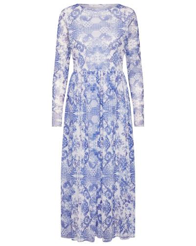 Kleid blau / mischfarben / weiß