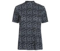 Blumiges T-Shirt blau / schwarz