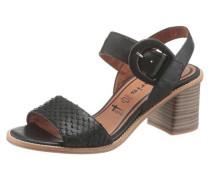 Sandalette braun / schwarz
