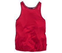 Top mit Häkeleinsatz im Rücken für Mädchen rot