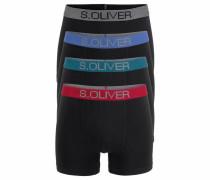 s.Oliver RED Label Bodywear Boxer (4 Stück) schwarz