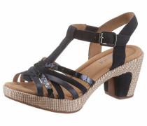 Sandalette nachtblau / hellbraun