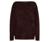 Off-Shoulder-Pullover 'chenille' bordeaux