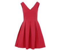 Ausgestelltes Kleid aus festem Stoff pink